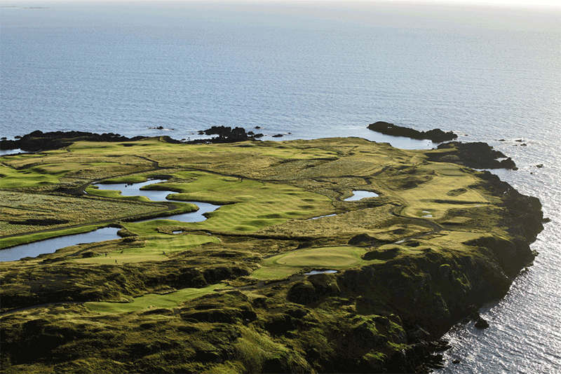 12 hole course in Iceland 12 holes at Brautarholt Golf Course