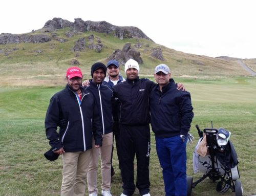 An Indian professional golfer visits us