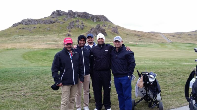 Anirban Lahiri plays golf in Iceland