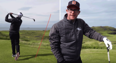 Mark Crossfield plays golf in Iceland