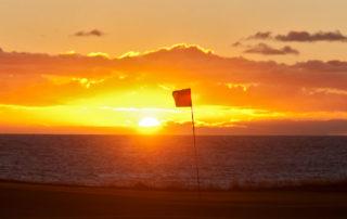 Midnight sun golfing Iceland